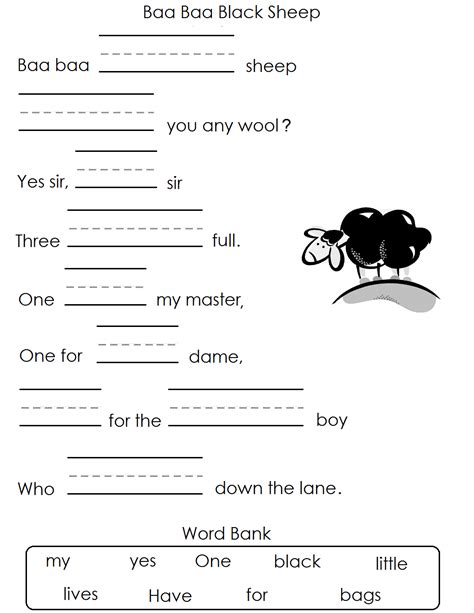 nursery rhymes worksheets free worksheets library