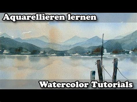 aquarell farb  luftperspektive ganz einfach youtube