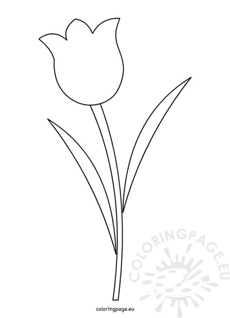 tulip template tulip flower template printable coloring page