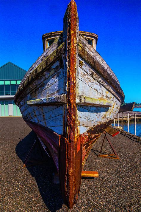 Bow Of Old Boat by Bow Of Old Worn Boat Photograph By Garry Gay