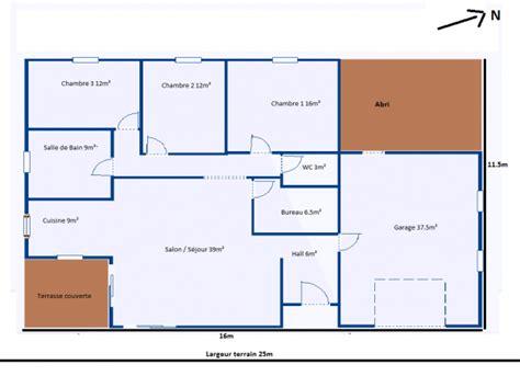 plan de maison gratuit 3 chambres plan de maison plein pied gratuit 3 chambres