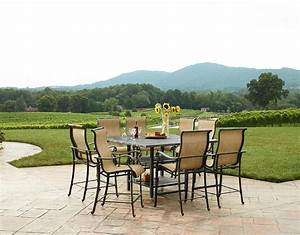 Garden Oasis Harrison 7 Piece Sling High Dining Set ...