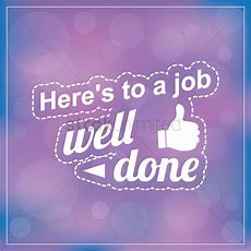 Here's To A Job Well Done Vector Image  1828622 Stockunlimited