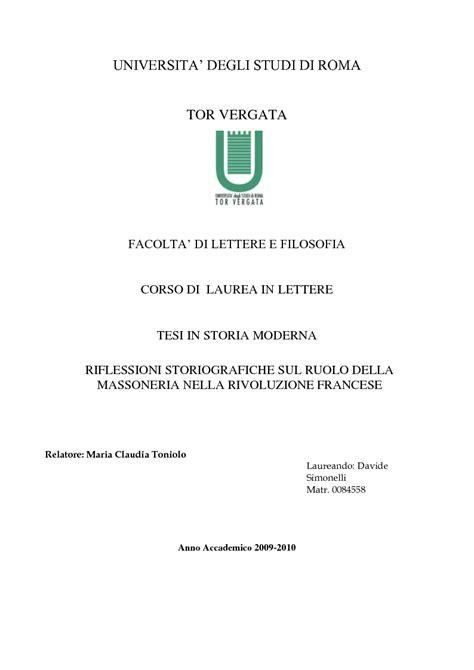 universita degli studi di roma tor vergata facolta di