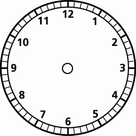 clock template printable blank clock clipart best
