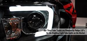 2014-2016 Gmc Sierra 1500 2500 3500 Hd Sierra Led Tube Projector Headlights