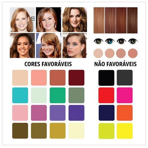 sua pele  cabelo em  estacoes   combinacoes de cores