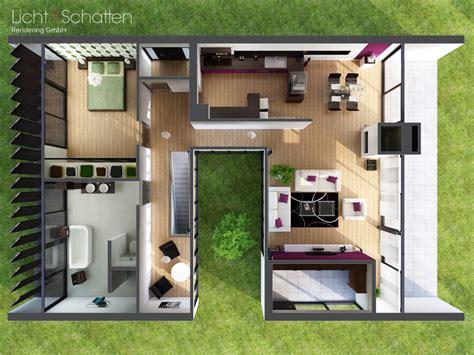 Haus Grundriss 3d by Modernes Haus Grundriss Modernes Haus Am Hang Weinfelden