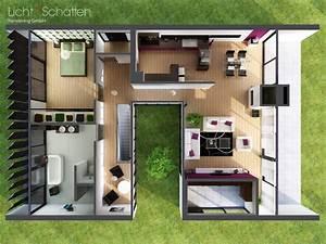 Modernes Haus Grundriss : moderne villa grundriss 3d ~ Lizthompson.info Haus und Dekorationen