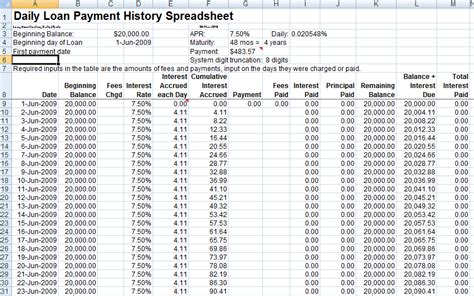 Payment Record Template Excel Costumepartyrun