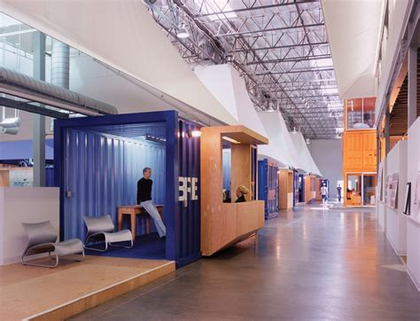Inside Pallota Teamworks Shipping Containertent Offices