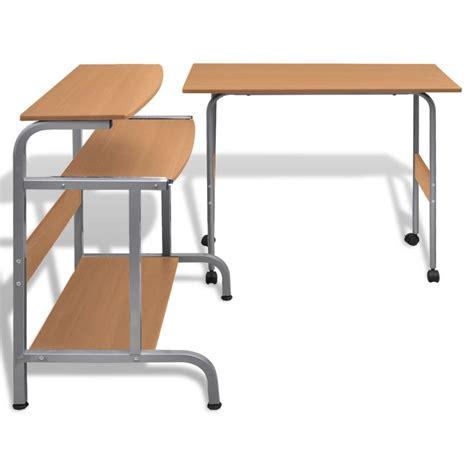bureau reglable la boutique en ligne table de bureau réglable brun pour