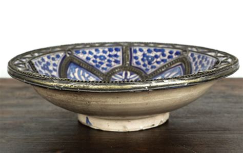 Pair Of Large Moroccan Ceramic Plates For Fez For Sale At