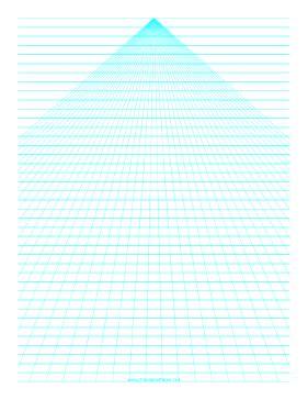 printable perspective paper center  horizontal lines