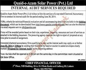 Internal Audit Services Required in Lahore - PaperPk