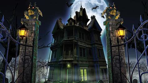 Haunted House Wallpaper Animated - haunted house wallpapers wallpaper cave