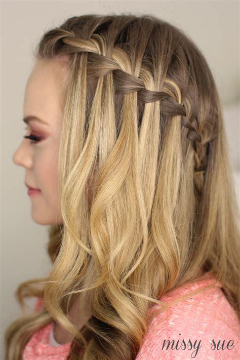 how to do a waterfall braid hair hair styles braided