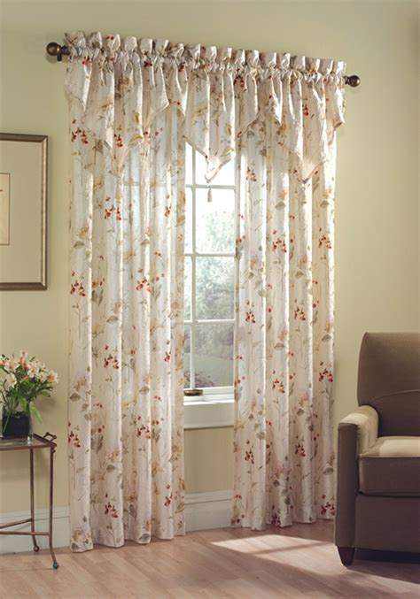 Chantelle Floral Curtain Panel   Curtain & Bath Outlet