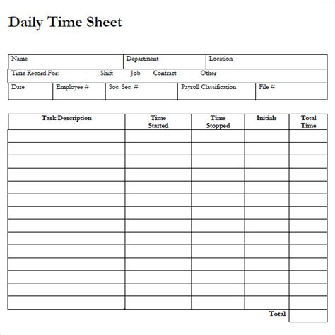 Time Sheet Template For All Employees Word by Employee Timesheet Templates Hunecompany