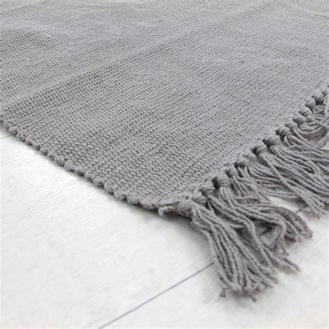 tapis simply 60x120cm gris tapis 100 coton tapis