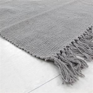 tapis simply 60x120cm gris tapis 100 coton tapis With tapis coton pas cher