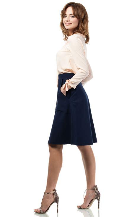 jupe bureau jupe trapèze bleu marine moe me184bm idresstocode boutique de déshabillés et nuisettes robes