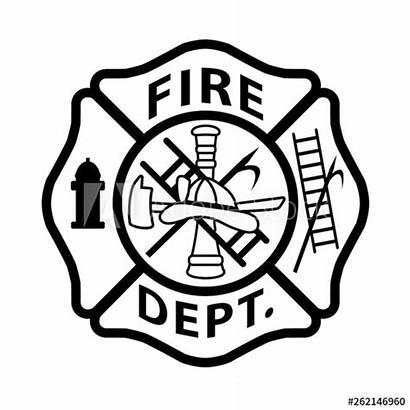 Maltese Cross Firefighter Vector Fire Department Emblem