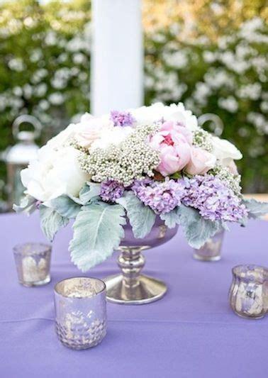 Lilac Decorations Wedding Tables - vintage chic floral centerpiece peony lavender lilac