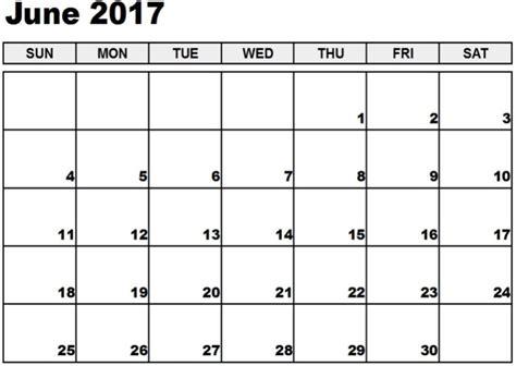 free calendar template 2017 june 2017 calendar template printable