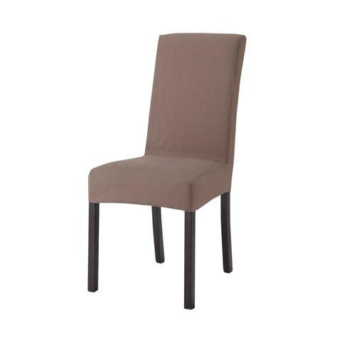 maison du monde housse de chaise housse de chaise en coton taupe margaux maisons du monde