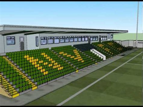 3D model of the Victoria Stadium, Northwich - YouTube