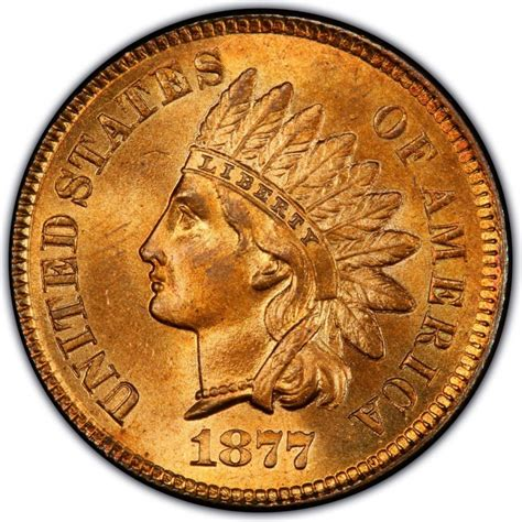 indian pennies 1877 indian head pennies values and prices past sales coinvalues com
