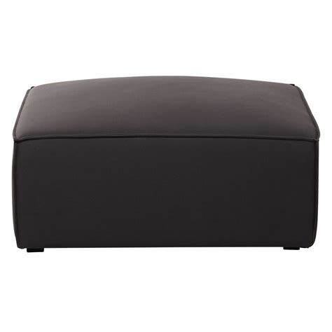 pouf de canapé pouf de canapé modulable en coton gris taupé colombus