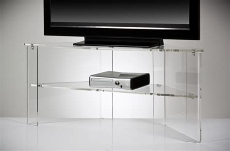 clear acrylic tv stand office design gallery