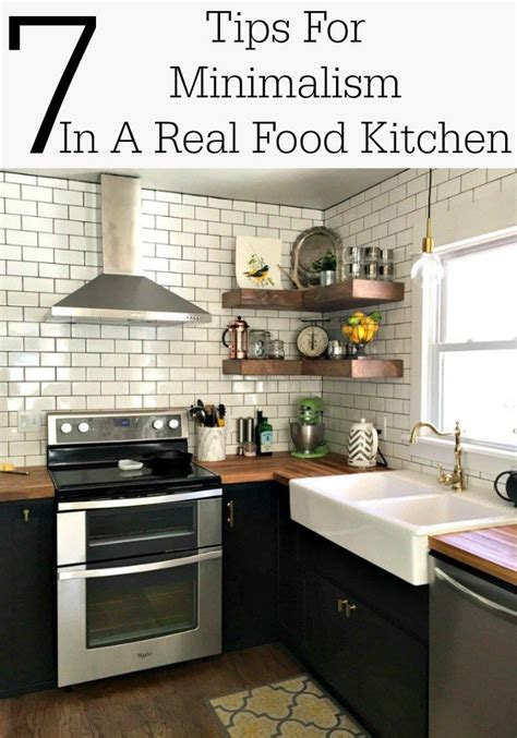 tips  minimalism   real food kitchen minimalist home minimalist home decor
