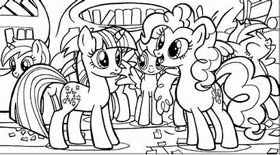 Pony Pie Pinkie Coloring Lesson Outline Drawing