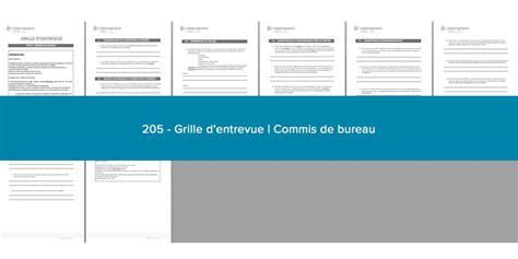 commis de bureau grille d 39 entrevue commis de bureau émergence stratège