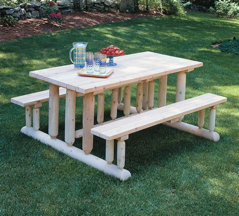 simple diy backyard rectangle pine park picnic table with