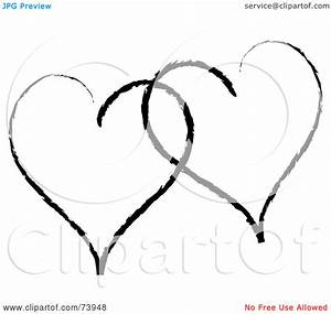Two Hearts Clipart Black And White   Clipart Panda - Free ...