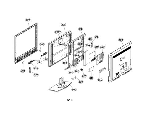 Diagram Of Television by Lg Led Tv Parts Model 47lb5dfucacclljm Sears Partsdirect