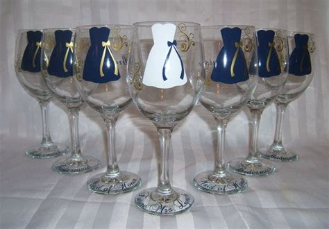 Personalized Wineglasses. Bridesmaid Gifts! Dollar Glasses