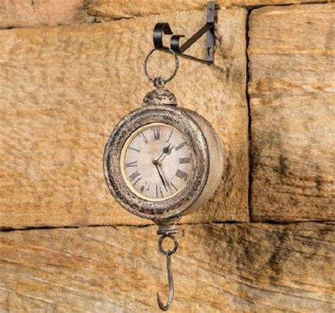 hanging clock  hook wood wall clock hickory