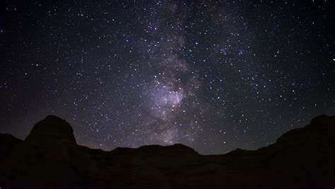 Milky Way Galaxy 80 Zoom In Timelapse Mojave Desert Red