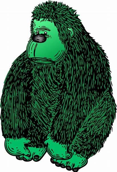 Gorilla Clipart Clip Colour Vector Library
