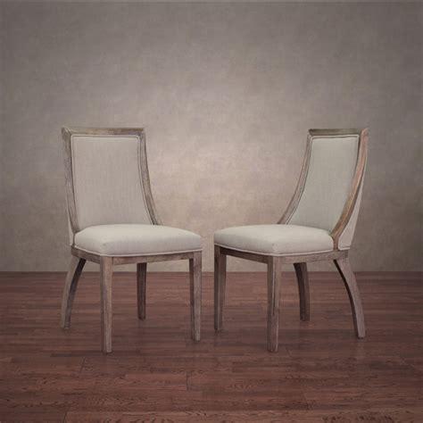 park avenue beige linen dining chairs set of 2