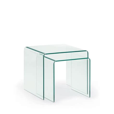 tables basses gigogne en verre burano par drawer fr