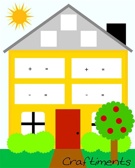 printable fact family house worksheet  images