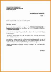 8 exemple preavis logement lettre officielle With lettre de preavis appartement meuble
