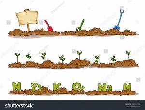 Illustration Garden Soil Borders Signboard Shovel Stock ...
