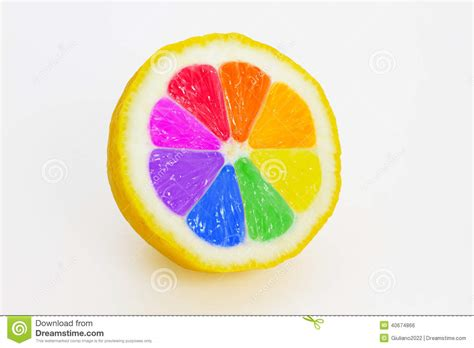 different colored multicolored lemon stock photo image of peel colored